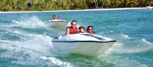 Speed boat et snorkeling