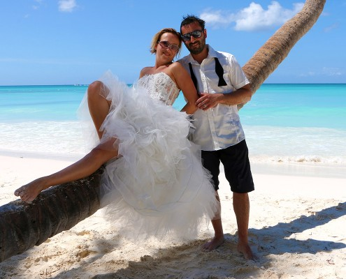 wedding at saona