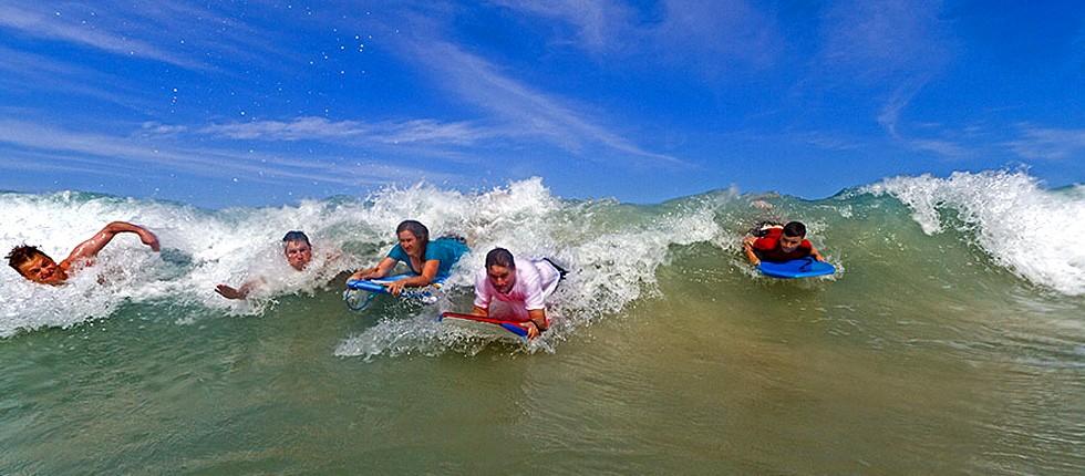 Boogie-boarding in Punta Cana